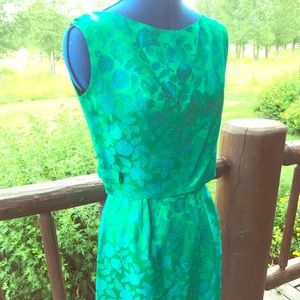 Dresses & Skirts - Vintage 1960s Emerald Sheath Dress